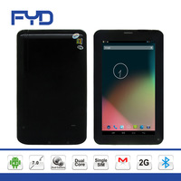 M702D 7 inch capacitive touch screen Allwinner A23 Dual core Single Sim android 4.2 Bluetooth 2G tablet pc