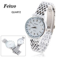 Wholesale Fashion Waterproof Quartz Watch Feiwo Brand Japan Movt White Dial Silver Stainless Steel Watchband Dress Watch Women