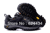 Free Shipping 2013 Top Quality genuine leather outdoor hiking shoes men trekking shoes waterproof climbing shoes camping shoes