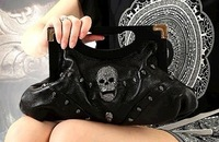 ~Free Shipping for 2 pcs~2013 New Style Punk Leather Fashion Women Clutch Bag Lady Bag