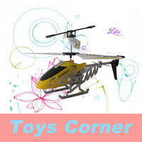 FreeShipping Fit for indoor-playing Helicopter ! DONGHUANG(807-1) 3.5 Channel Alloy RC Helicopter with Gyro and Flashlight