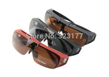OTG1045 Men women Fit Over Prescription Glasses Polarized Sunglasses Flip Up Polaroid Shades fishing gafas oculos de sol lentes