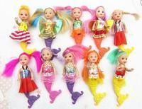 10pcs/lot 14.5CM Mermaid cartoon dolls mermaid doll children's toys Children's Day gift does Free shipping