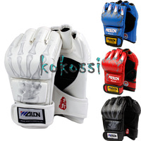Free Shipping High Quality Grappling MMA Gloves Boxing Fight Ultimate Gloves Punch White