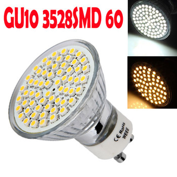 10 GU10 3528 SMD 60 LED Spot Light Bulb Lamp 3W Energy Saving