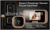 """Doorbell Auto Photo and Video Recording Digital Door Eye Peephole Camera with 2.8"""" Screen Door Camera"""
