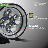INTON latest technology NB-1308 4000 lumens bike light + New model Headband