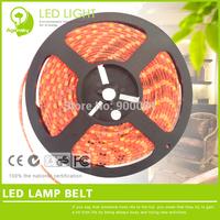 Free Shipping Smart SMD5050 Red LED Strip light 300leds (5*60leds/m) Waterproof 12V LED strip 5m/roll luminarias home decoration