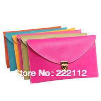 Candy Color Vintage Envelope Clutch Handbags Women Messenger Bags New 2014 Desigual Chain Leather Handbags 14 Colors