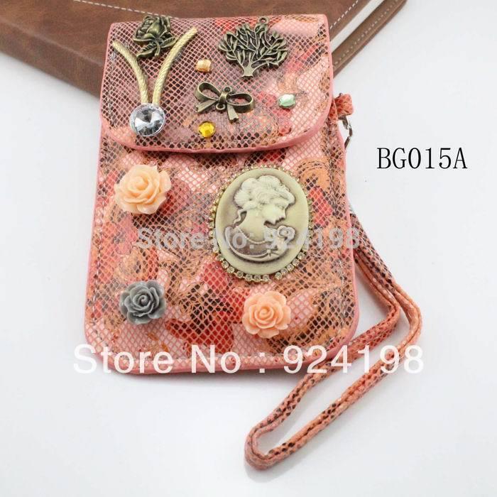Min. order $10 2015 fashion female vintage the telephone bag flower design free shipping(China (Mainland))