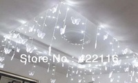 LED Holiday Curtain Wedding LIGHTS STRING 16 Butterfly 100 smds 3.5m White 110V 220V PARTY PATIO FAIRY CHRISTMAS BEDROOM