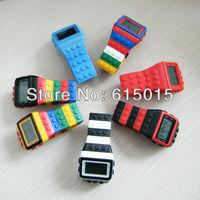 New 2013 Shhors Watch Rainbow Classic Unisex Fashion Watches Coloful Stripe Cheap Digital LED Light 5 Pcs /A Lot Mix Color
