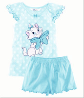 2013 New Arrive Baby Girls Suit Kitty Short Sleeve + Pants Kids Clothing SET Fit 2-6 Yrs 5 Sets/1 Lot