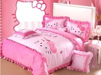 4pcs Pink Hello Kitty Queen Size Bedding Purple Comforter Set King Size Hot Sale Mickey Mouse And Minnie Mouse Bedding Sets