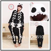 JP Anime Kigurumi Pajamas Skeleton Skull Cosplay Costume Adult Pyjamas Hoodies Party Dress unisex pyjamas by0009 Human Skeleton