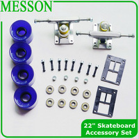 MESSON Plastic skateboard parts Set Truck Wheels Bearing Screw Pad  For Skateboard or some Longboards