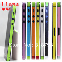 50pcs/lot Bumper sticker for iphone5, Muilti color Side Bumper Skin Sticker for iPhone 5 5G with retail package Free Shipping