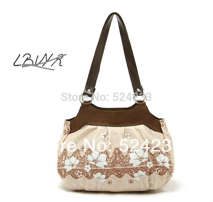 New Popular France Export Brand Floral Printed Women Handbag,One shoulder Bag,Simple&Elegant Ladies Single Casual Totes Case*B01(China (Mainland))