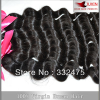 "Indian Virgin Hair 6A Extension 8""-34""100% Human Hair Weave Free Shipping Natural Color natural Wave 3pcs/lot Free Shipping"