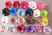 fashion craft flower F005-L hand rolled rose flowers 45mm 50pcs girl's and women hair acceessories