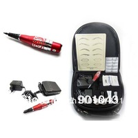 Promotion! Permanent Makeup Machine Kit With Tattoo Power Supply W-PK0002-1 Free Shipping