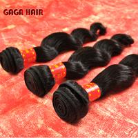 Free shipping!Cheap 5A hair,Mix 3Pcs 10-30inche Peruvian Virgin Human Hair Weft Extension Natural Black  Loose wave Hair weaving