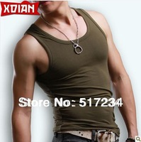 Spring 2014 Hot Sale High Quality Cotton Men's Summer Vest  Men's Fitness Vest Sports Nest Runing Vest Free Shipping