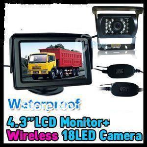 "20 pcs backup camera Wireless car camera parking system  CAMERA PARKING KIT + 4.3"" LCD TFT MONITOR car rear wireless camera"