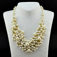 Necklaces 2013 Women Luxury Multiple Layer Pearl Statement Necklace Brand Jewelry  Min order 10$ (can mix order)