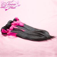 Q Love Hair Products 4pcs/lot,brazilian virgin hair straight unprocessed human hair,100% virgin hair Free shipping