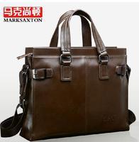 Hot sale!! New Genuine Leather Men Business Bag Briefcase Handbag Men Shoulder Bag Laptop Bag,free shipping