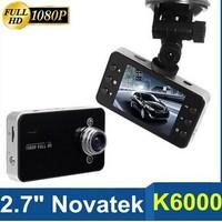 car dvrs,k6000 hd car camera 2.7 inch TFT Screen 1920*1080P night Vision dvr recorder,video recorder