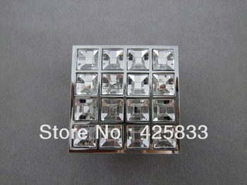 Square 16 Glass Furniture Kitchen Handles Cabinet Handles Door Knobs Dressers Knobs Drawer Pulls