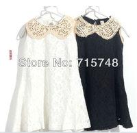 2013 new summer girl dress flower lace style dress princess dresses kid dress Children clothes #8569