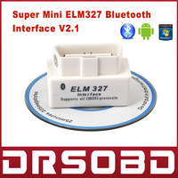 2013 Release SUPER MINI ELM327 Bluetooth OBD2 V1.5 White Smart Car Diagnostic Interface ELM 327 Wireless Scan Tool