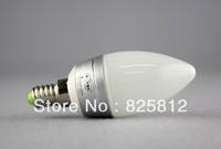 Big Eye color box 3W E14 led candle light led candle bulb (white color)