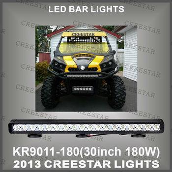 """30"""" 180W 10-30V  CREE SPOT beam & Flood Beam  TRUCK LED  LIGHT BAR&LED DRIVING LIGHT BAR 12150 Lumen KR9011-180"""