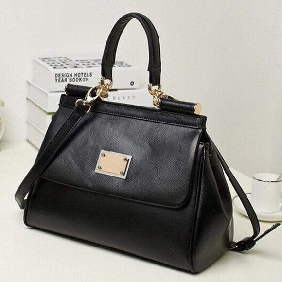 Guaranteed 100% women handbag Genuine Leather women messenger bags famous brand leather handbags designers brand new 2014 free(China (Mainland))
