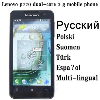 Russian Polish menu Lenovo P770 mobile phone  Android 4.1 dual-core CPU 4.5ips screen 1GB RAM 4GBROM multi-lingual free shipping