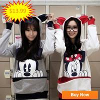 2014 spring Autumn hoodies  women womens ladies Cotton sweatshirt hooded cartoon  hoody hoodies coat Free shipping