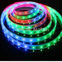 5m 6803 IC 5050 RGB LED Strip,150LED IP67 tube waterproof 12V dream colour Led Strip,30LED/m + free shipping