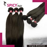 Free shipping brazilian virgin straight hair,natural color 1b#,4pcs/lot