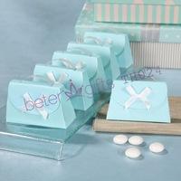 264pcs Mint Blue Purse hangbag Party Favor Boxes TH024