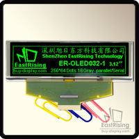 "Free Shipping,2pcs/lot,3.2"" inch,OLED Module Display,256x64 Dots,SPI,Parallel Interface,Green on Black,Free ZIF Connector"