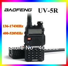 3pcs/lot UV-5R  dual band dual display dual standby 136-174&400-520MHz walkie talkie BAOFENGNew launch 4w 128 channel UV5R