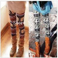 New Fashion knitting 3 Styles Crystal Pattern snowflakes Pants Women's Knit Leggings  FREE SHIPPING