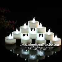24pcs/lot LED Smokeless Flickering Battery electronic Candles Tea Light 1.5inch Christmas/party/ritual decoration Freeshipping
