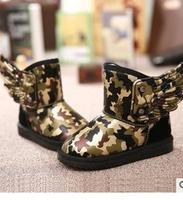 Slip-resistant waterproof  boy  child snow boots  warm winter  shoes