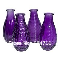 """5.5""""H Glass bud bottle vase USD66.00 for 12pcs/Eech USD5.5"""