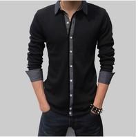 2014 new casual shirt, Cotton high quality men shirt, t shirt men long sleeve,Plus size 4XL,5XL mens dress shirts, Free Shipping